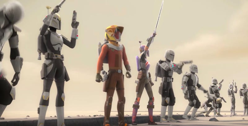Clan Wren is about to go off on Star Wars Rebels. Image: Disney XD