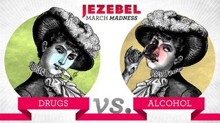 Illustration for article titled Jezebel's March Madness 2014: Drugs vs. Alcohol Begins NOW