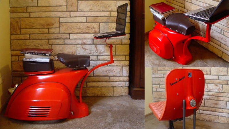 Illustration for article titled I Want to Work On This Vespa Workstation