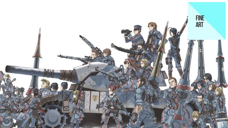 Illustration for article titled The Sexy, Scribbly Art of Valkyria Chronicles