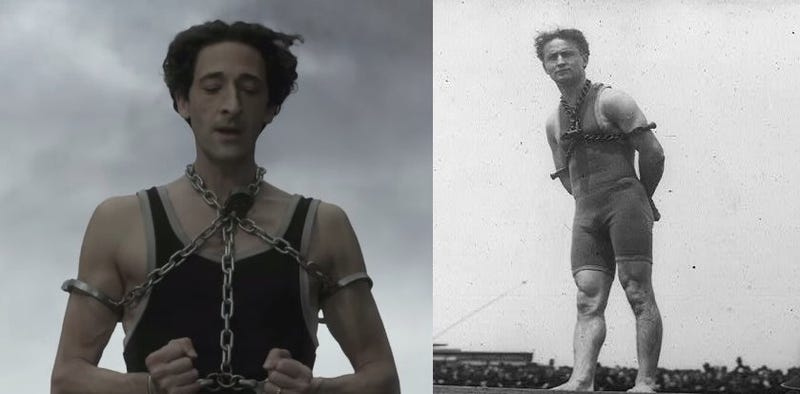Illustration for article titled Nothing On Earth Can Hold Adrien Brody In The Houdini Trailer
