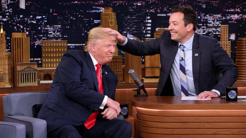 Donald Trump with Jimmy Fallon on The Tonight Show Starring Jimmy Fallon on Sept. 15, 2016YouTube screenshot