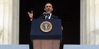 President Obama addressing the audience at the March on Washington 50th anniversary (Getty Images)