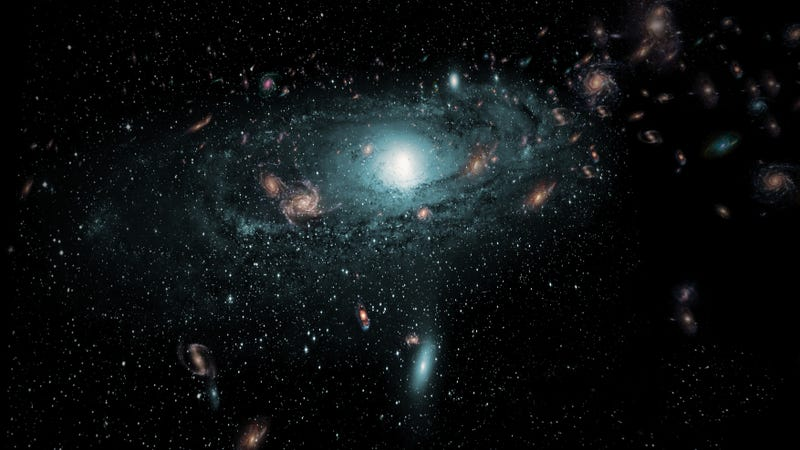 Artist's conception of newly discovered galaxies / ICRAR