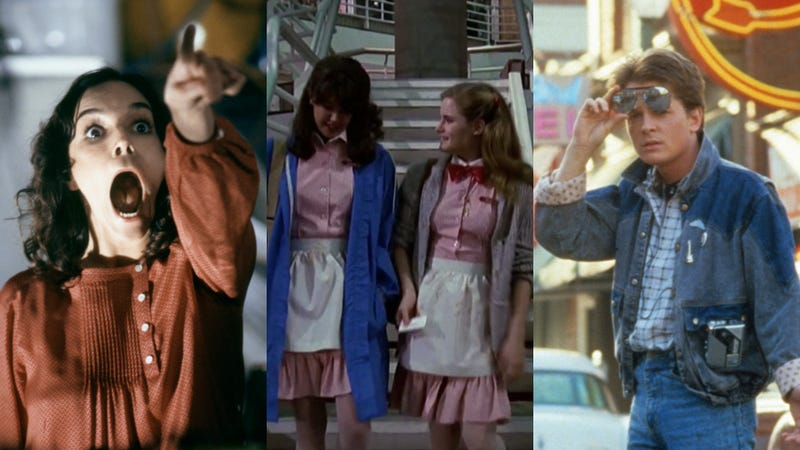 Invasion Of The Body Snatchers (left), Fast Times At Ridgemont High, and Back To The Future