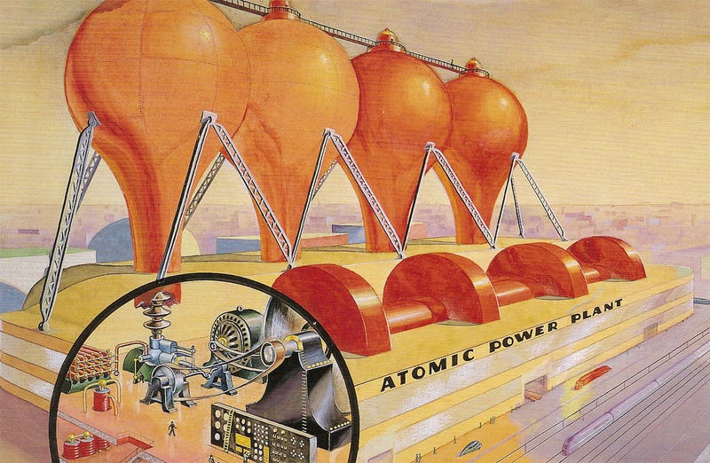 Illustration for article titled Atomic Power Plant of the Future (1939)