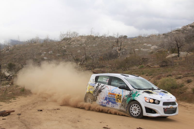 Dramatic Landscapes at HDTPR - Ray Piloto & Brock Palmer #124 Chevy Sonic RS - Picture by Mathew Mendoza #wheelsdirty
