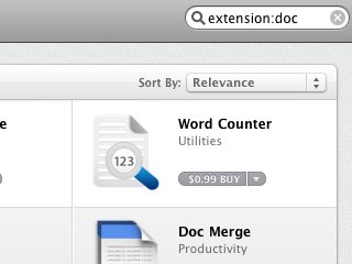 Search the Mac App Store for Specific File Extension Handlers