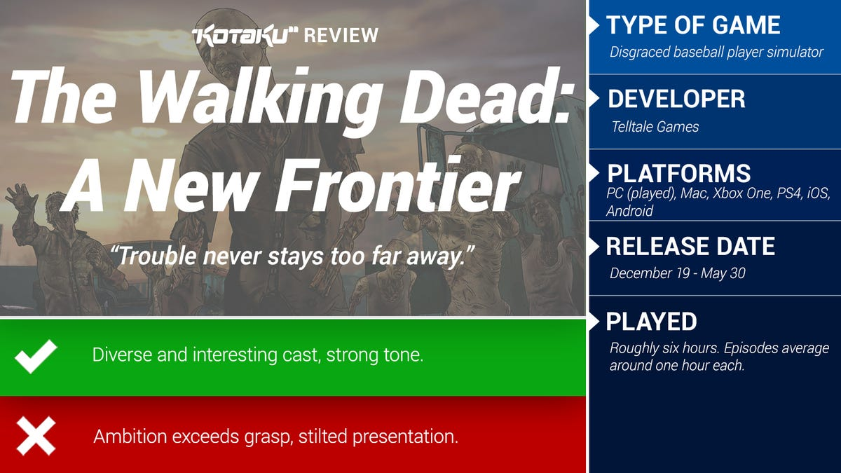 The Walking Dead: A New Frontier: The Kotaku Review