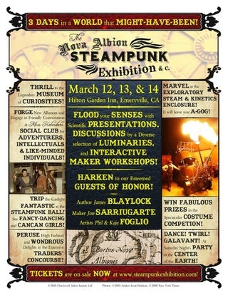 Illustration for article titled Nova Albion Steampunk Exhibition Showcases Fashion, Film, Madness