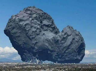 Illustration for article titled Now You Can Truly Appreciate the Size of Comet Churymov-Gerasimenko