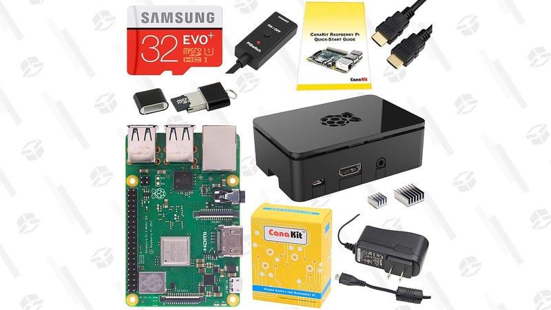 CanaKit Raspberry Pi 3 Model B Complete Starter Kit | $58 | AmazonCanaKit Raspberry Pi 3 Model B+ Complete Starter Kit | $64 | Amazon