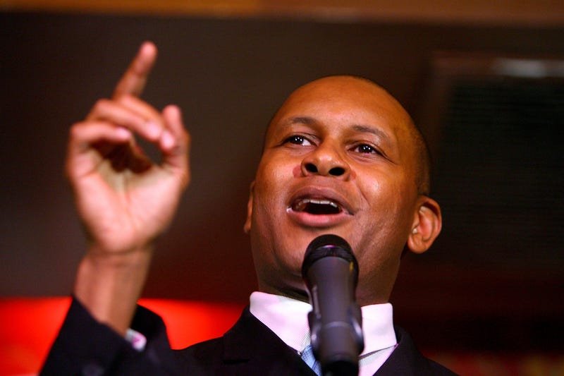 Kevin Powell, who is running for Congress in Brooklyn's 10th District (Getty Images)
