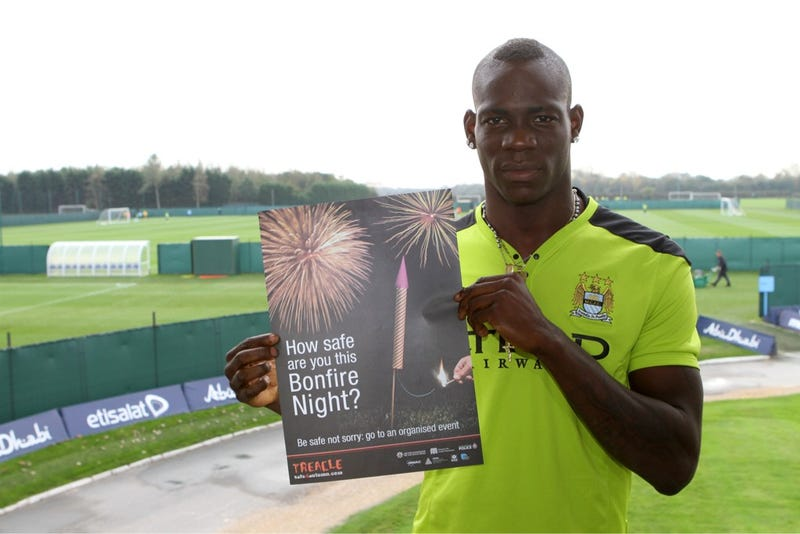 Illustration for article titled Mario Balotelli: Spokesman For Firework Safety