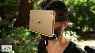 Illustration for article titled AirVR Wants to Shut Off All Human Contact With an iPad Mini Face-Holder