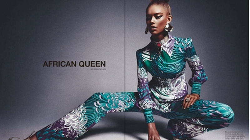 Illustration for article titled 16-Year-Old White Girl Poses in 'African Queen' Editorial