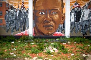 Mural of Freddie Gray Mark Makela/Getty Images