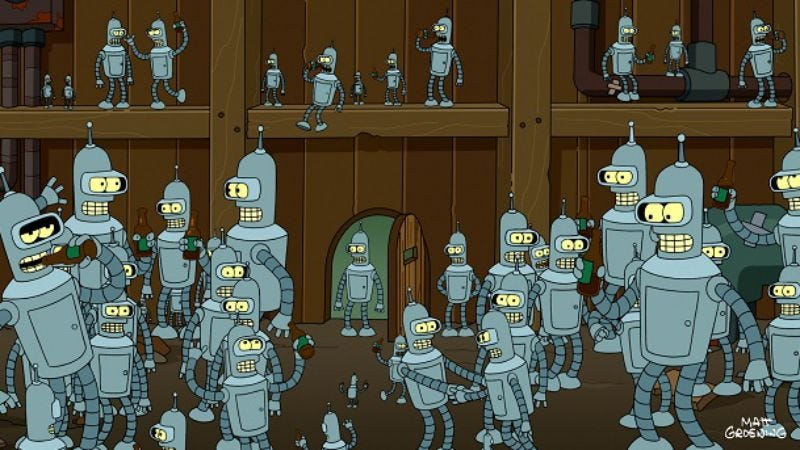 """Illustration for article titled Futurama: """"Ghost In The Machines"""""""