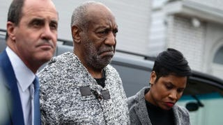 Bill Cosby (center) arrives at the courthouse in Elkins Park, Pa., Dec. 30, 2015, to face charges of aggravated indecent assault involving a former Temple University employee.KENA BETANCUR/AFP/Getty Images