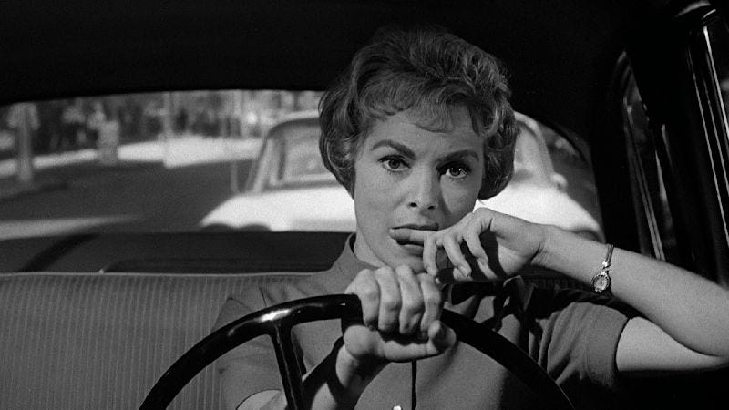 Janet Leigh as Marion Crane in Psycho (1960)