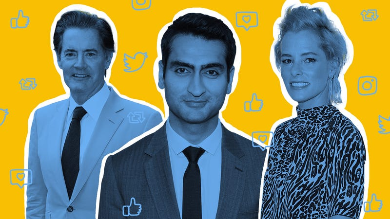 Kyle MacLachlan (Photo: Olivier Huitel/Getty Images), Kumail Nanjiani (Photo: Mat Hayward/Getty Images), and Parker Posey (Photo: Frederick M. Brown/Getty Images). Graphic: Natalie Peeples.