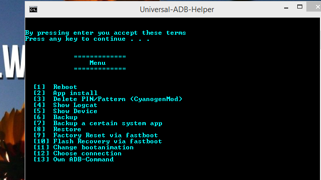 Universal Adb Utility Simplifies Common Android Command