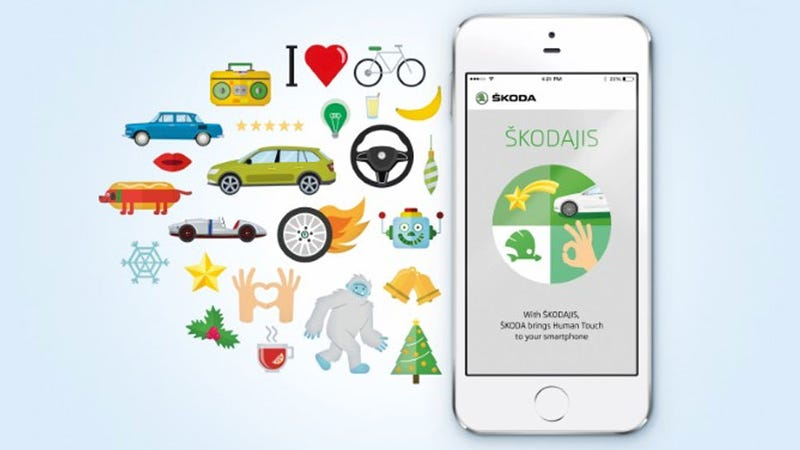 Illustration for article titled Everyone, Škoda Has Released Its Own Set Of Emojis, So Everything Will Be Okay