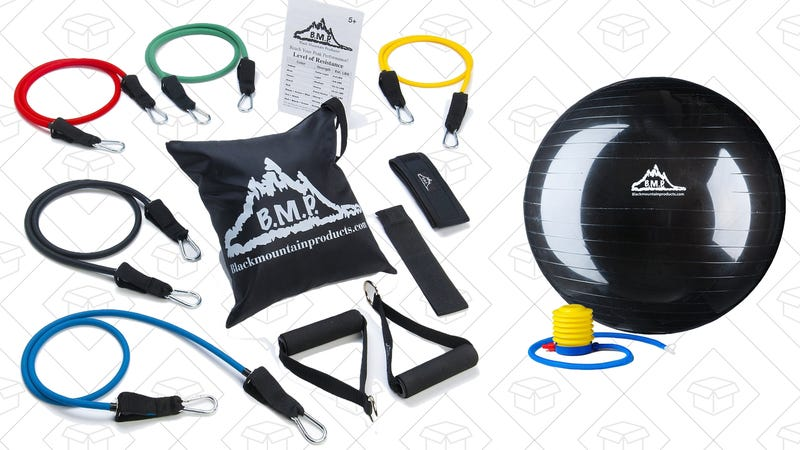 Black Mountain Resistance Band Set, $19With Exercise Ball, $30