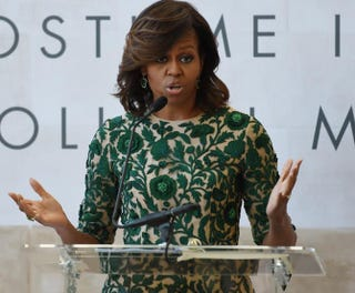 First lady Michelle ObamaSTAN HONDA/AFP/Getty Images