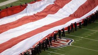 Those Humungous American Flags at Football Stadiums Weigh