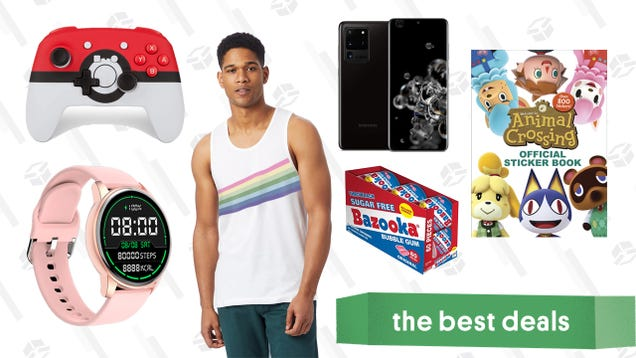 Friday's Best Deals: Poké Ball Switch Controller, Samsung Galaxy S20, Animal Crossing Sticker Book, Alternative Apparel Pride Collection, and More