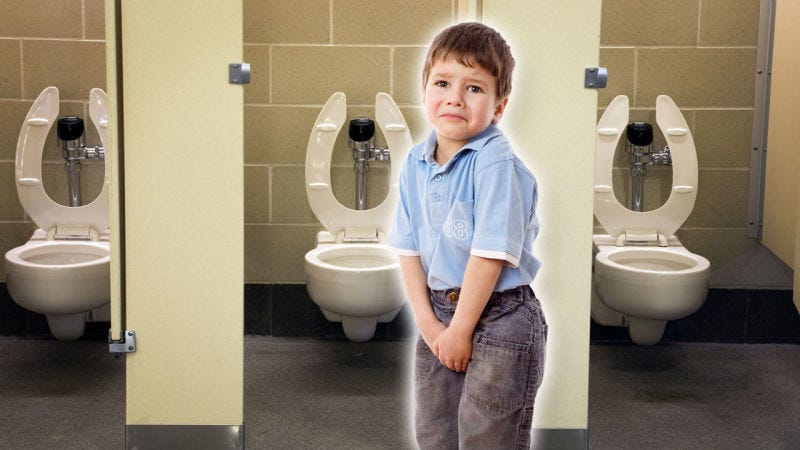Illustration for article titled How to Keep the Automatic Flushing Toilet From Scaring the Crap Out of Your Kid