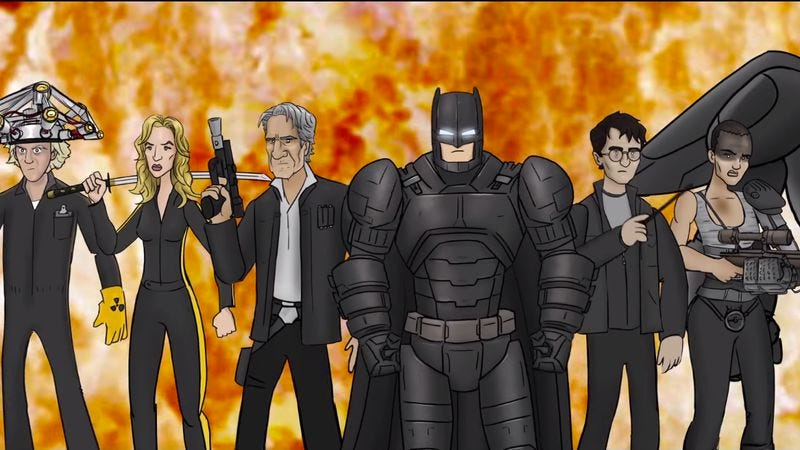 """Illustration for article titled Band-Aids won't fix Batman's and Superman's bullet holes in """"Bat Blood"""""""