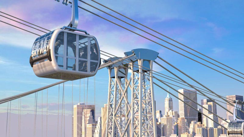 Illustration for article titled NYC Needs to Build This Gondola Between Brooklyn and Manhattan