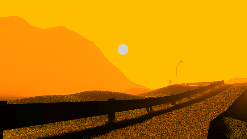 A screenshot of Exit 19, one of the games in Ambient Mixtape 16.