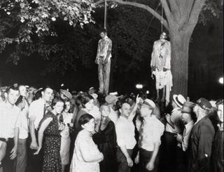Lawrence Beitler's photo of the lynching of Thomas Shipp and Abram Smith (1930).
