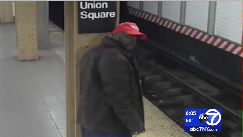 Illustration for article titled Man Wearing 'Make America Great Again' Hat and Shirt Wanted for  Attacking Hispanic Man in NYC Subway Station: Report