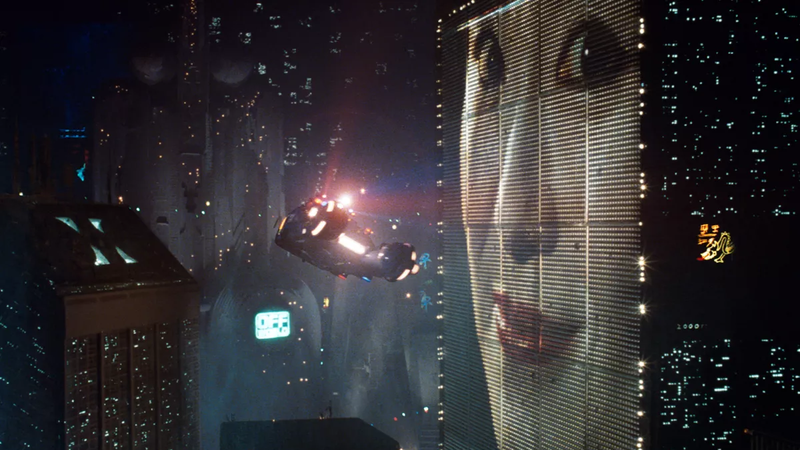 The quintessential cyberpunk cityscape.