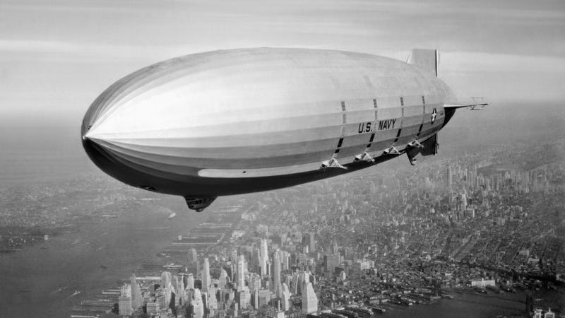 The report says the planned airship will be a tad smaller than the American navy airship USS Macon. Photo: Wikipedia
