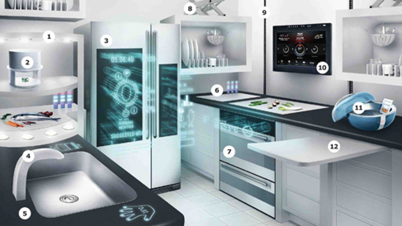 IKEA Dreams up the Year 2040\'s Kitchen Equipment