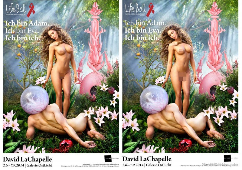 Illustration for article titled Carmen Carrera Poses as Both Adam and Eve [NSFW]