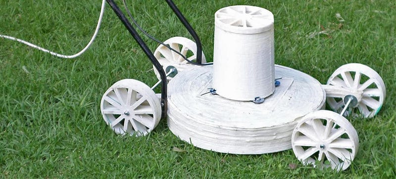 Illustration for article titled 3D Printing Your Own Lawn Mower Sounds Like a Great Idea Until It Fails