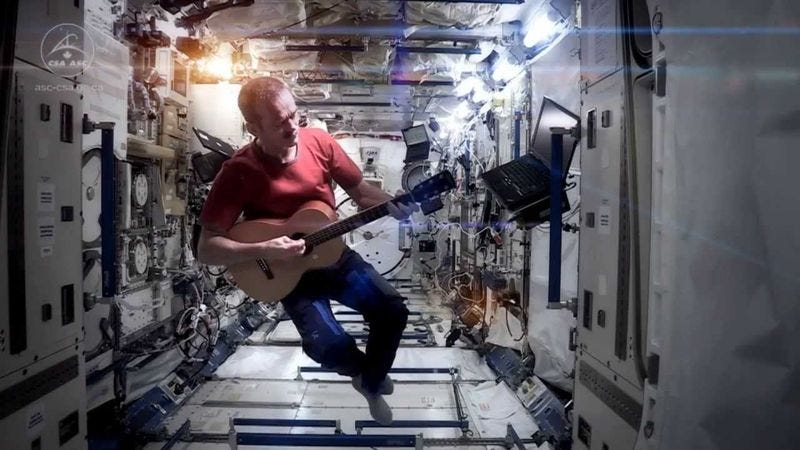 "Illustration for article titled Internet fights to save astronaut's cover of ""Space Oddity"""