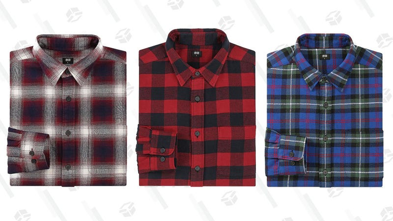 Men's and Women's Flannels | $15 | Uniqlo