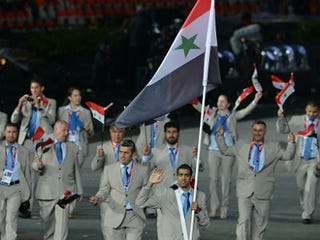 Syria's Olympic Team (Gabriel Bouys/AFP)
