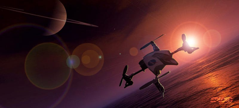 Illustration for article titled NASA wants to send a quadcopter drone to Titan