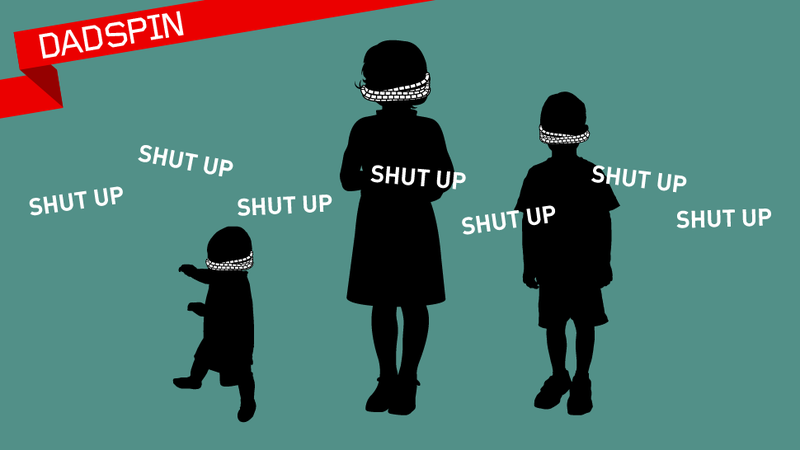 Illustration for article titled Shushing Your Kid Is Idiotic