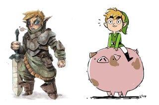 Illustration for article titled Legend Of Zelda Art Jam