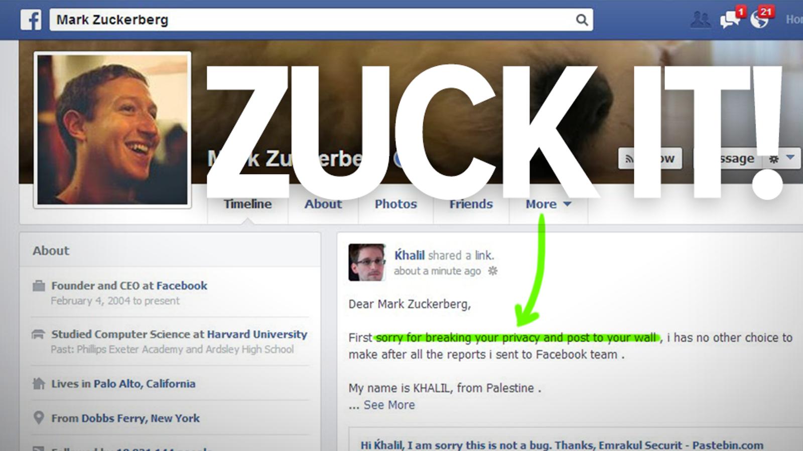 Man hacks Zuckerberg's Facebook to show how much his security sucks