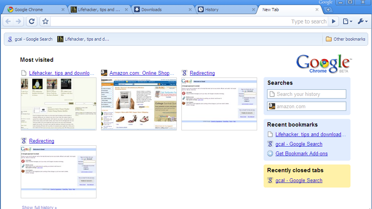 Google Chrome First Look